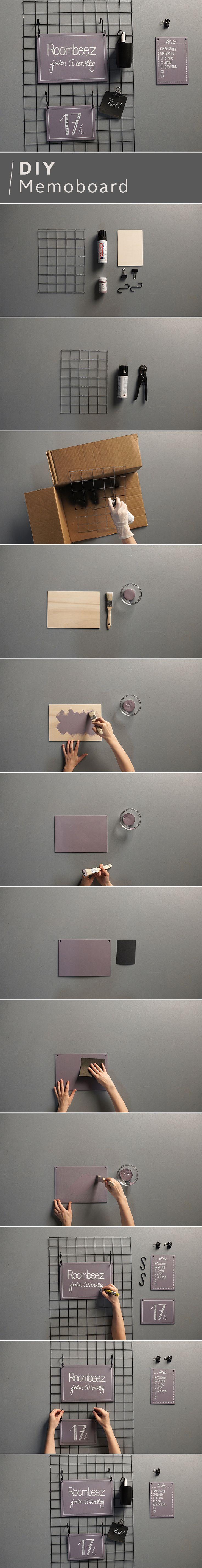 Notiz an dich ein cooles Memoboard basteln Elisa von OTTO Roombeez hilft dir dabei Alles was du brauchst ist ein Drahtgitter und schwarze Sprühfarbe