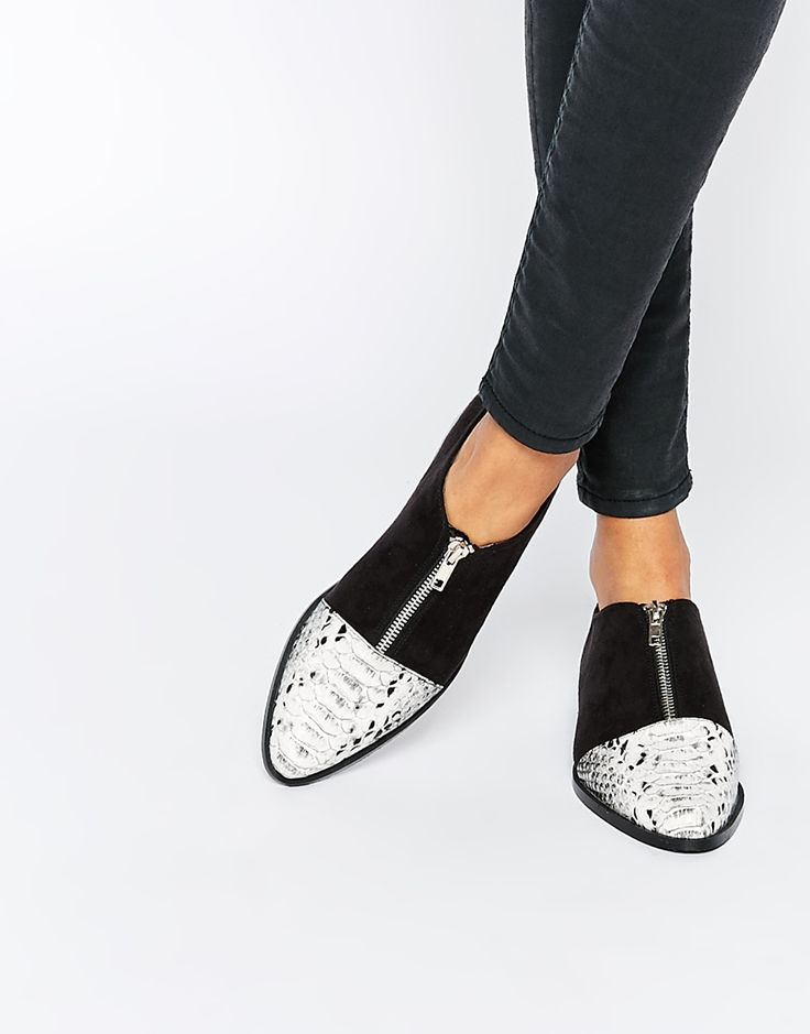 Image 1 of ASOS MAYOR Pointed Flat Shoes