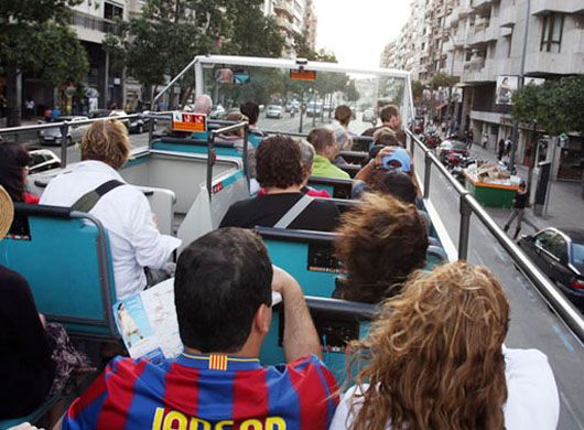 Barcelona Tour Bus (Bus Turistic) -  Hop on Hop of tourist bus.  Cost: 21 Euros per day.  A cheaper alternative is to ride the metro.  the T-10 costs 7.85 Euros and is good for 10 trips on metro, bus, tram and the FGC (Barcelona's commuter rail network).  The ticket is good for 1 hour and 15 minutes.