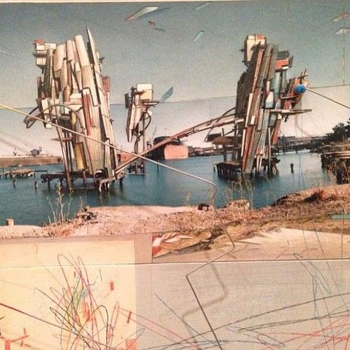 Quake City, from the 2013 SFMOMA Exhibition  Lebbeus Woods  1995