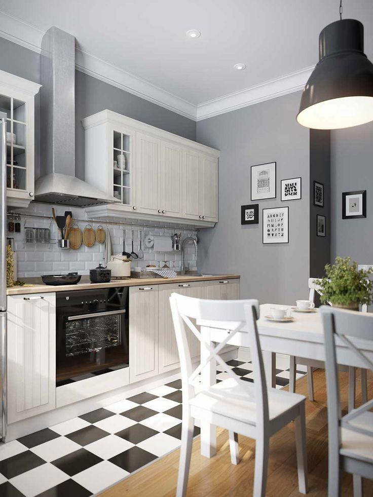 Дизайн кухни 9 кв.м фото современной угловой кухни 9 кв. м. с холодильником и диваном в панельном доме. Кухня с выходом на балкон
