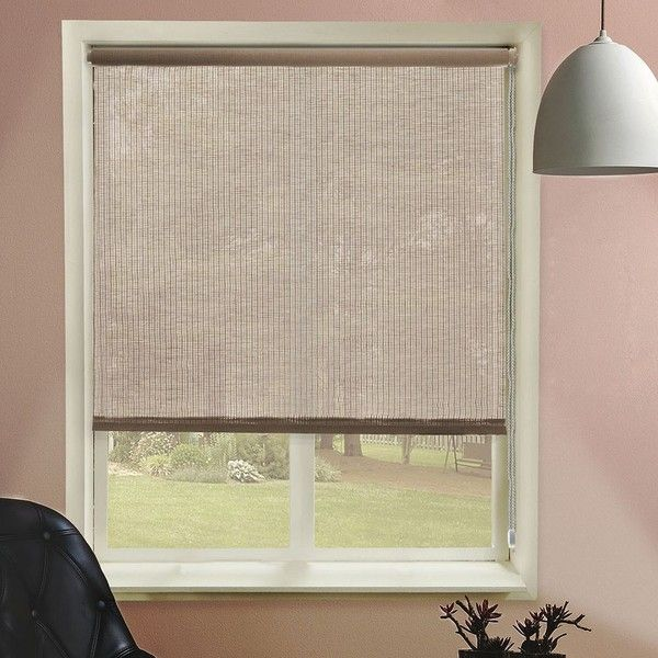 Chicology Paper Fabric Roller Shade ($60) ❤ liked on Polyvore featuring home, home decor, window treatments, window blinds, brown, fabric window blinds, paper window blinds, brown window treatments, brown window shades and paper blinds