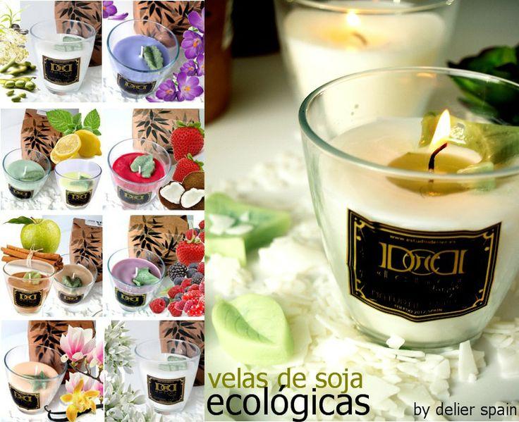 velas aromaticas de calidad y ecológicas, soja y vegetales por delier parfums