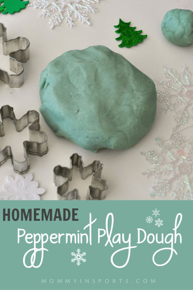Looking for a favor for your Frozen parties or to add some winter fun into your homes? Try this Homemade Peppermint Playdough Recipe!
