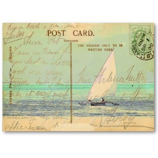 Sail Away Gift Tag Business Card Templates