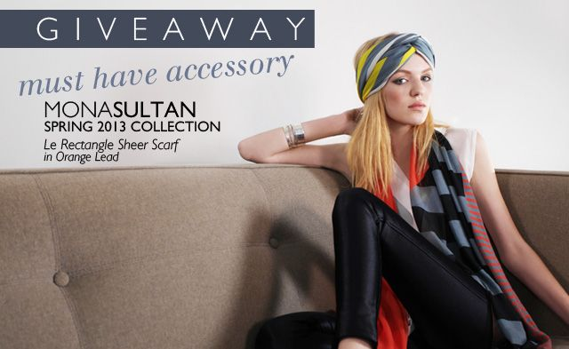 Win this 100% silk scarf from @Mona Ascha Sultan ! Entry is as easy as a few clicks #giveaway #win #free #fashion #accessory http://www.frameworkmag.com/fashion/giveaway-win-a-mona-sultan-silk-chiffon-scarf/
