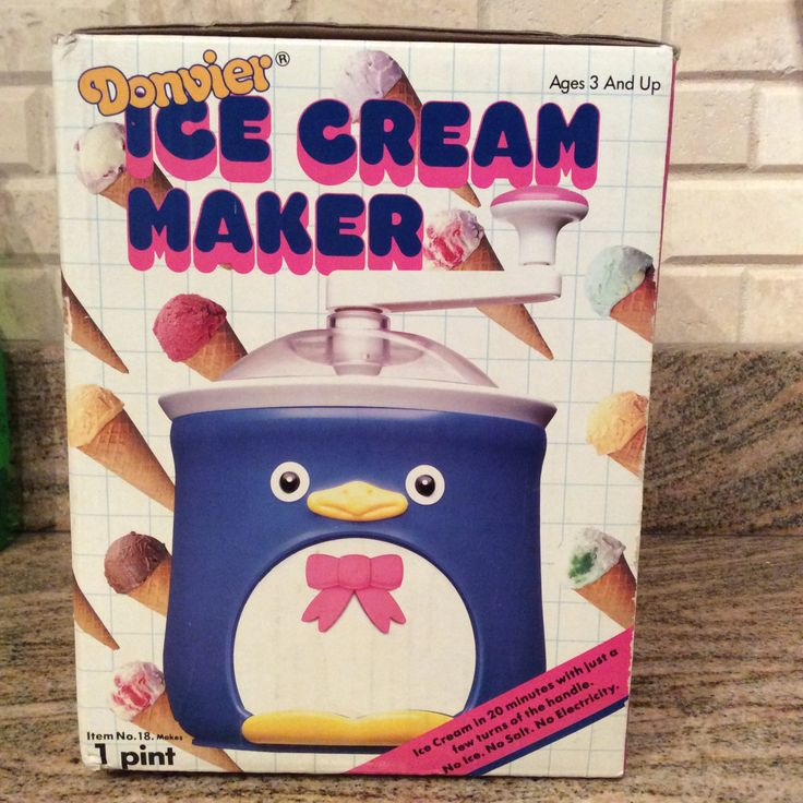 1986 Donvier 1 Pint Penguin Ice Cream Maker, Vintage Ice Cream Maker, Donvier Ice Cream Maker, Ice Cream, Penguin a Ice Cream Maker, Donvier by Lalecreations on Etsy