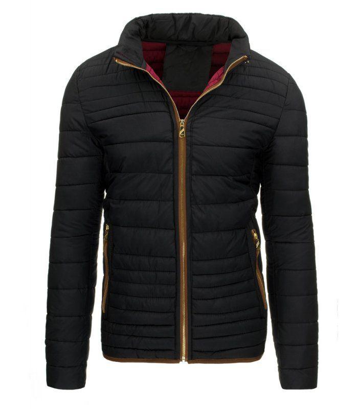 Čierna zimná, pánska bunda s kapucňou. Zapínanie na lesklý zips. Kapucňa regulovaná v golieri. Dve vonkajšie vrecká. Dve vnútorné vrecká. Pohodlný strih. Vhodné ako neformálne oblečenie.