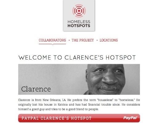 SXSW: Meet Clarence, The #Homeless Hotspot  #SXSW #nonprofit