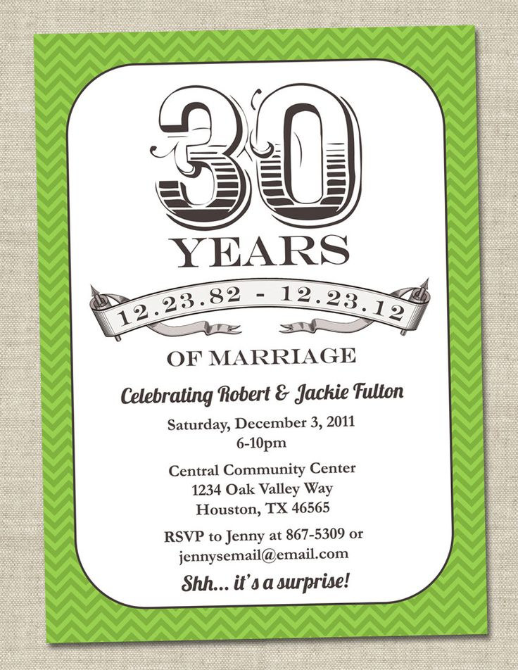 15 Must-see 30th Anniversary Parties Pins | 30th anniversary gifts ...