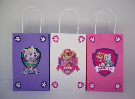 Make your own Girls Paw Patrol Favor Bags with these easy templates!! They are…