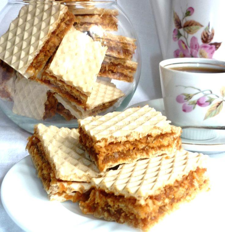 Вафельный торт с кокосом (без масла и яиц) рецепт с фотографиями