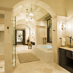 This Master Bath Seems To Go On Forever; #mediterranean Style; #bathroom By