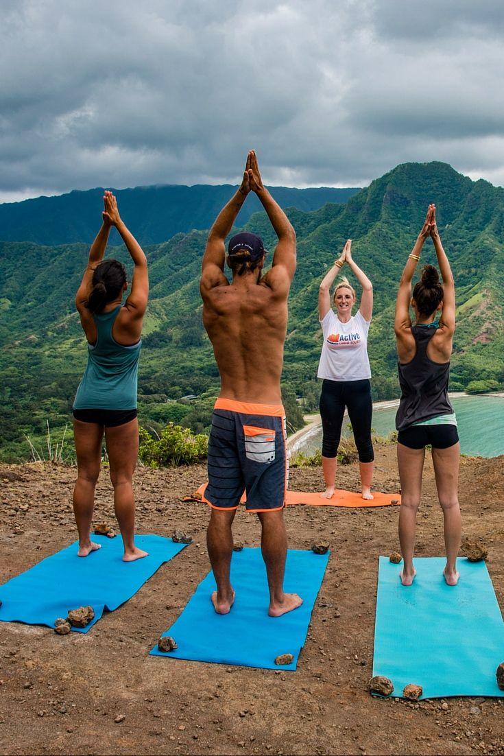 Outdoor Yoga Overlooking The Ocean