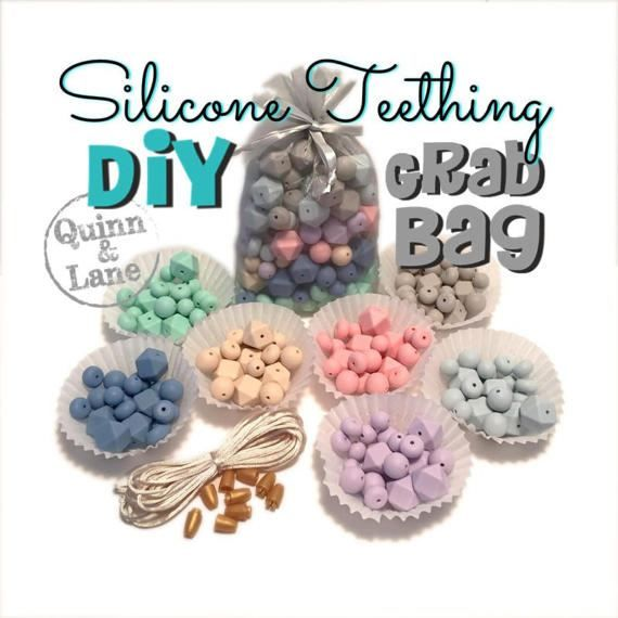 Pastels  GRAB BAG of Silicone Beads  DIY Supplies  Loose