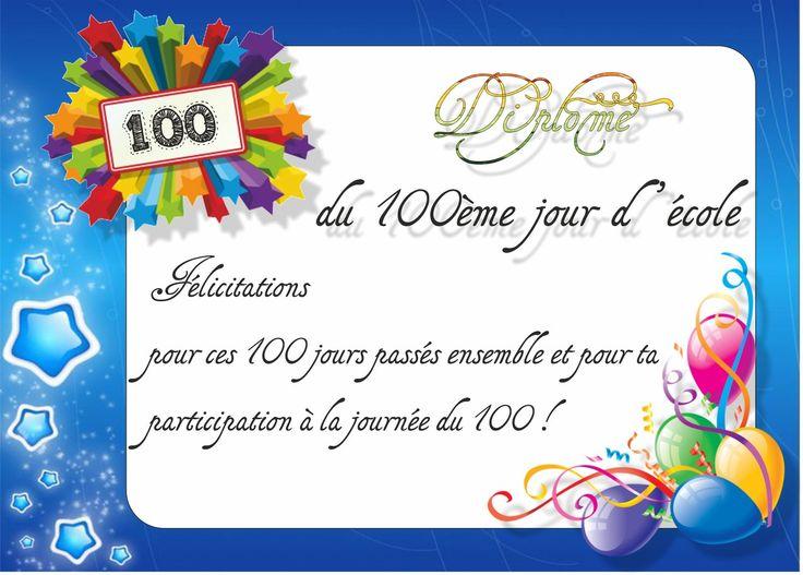 Chaque jour compte - 100ème jour : diplôme