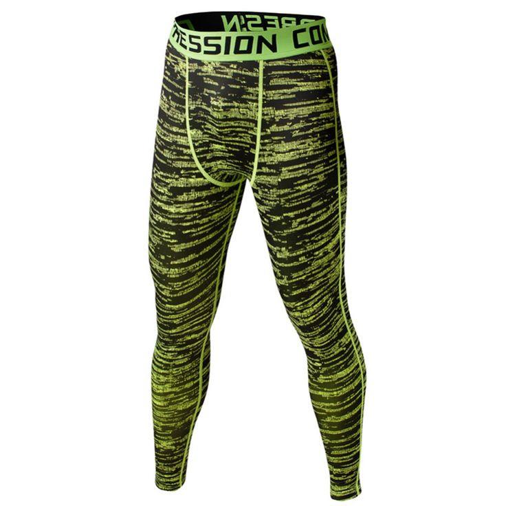 Męskie Sportowe Legginsy Warstwa Bazowa Kompresji Spodnie Moro Spodnie Legginsy Fitness Szkolenia