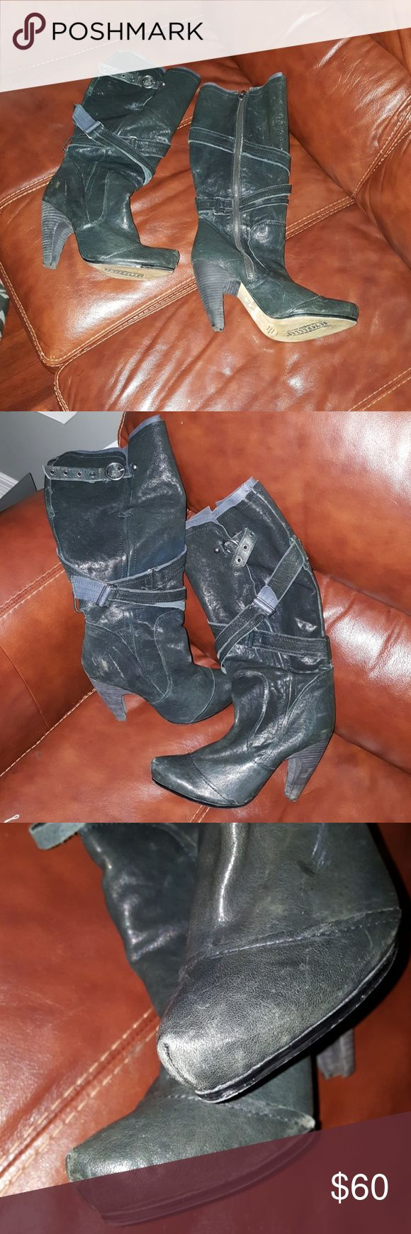 Seychelles Boots 10 Great quality leather. Some scuff marks . Nothing major. Beautiful  boots that will last for years. Seychelles Shoes Heeled Boots