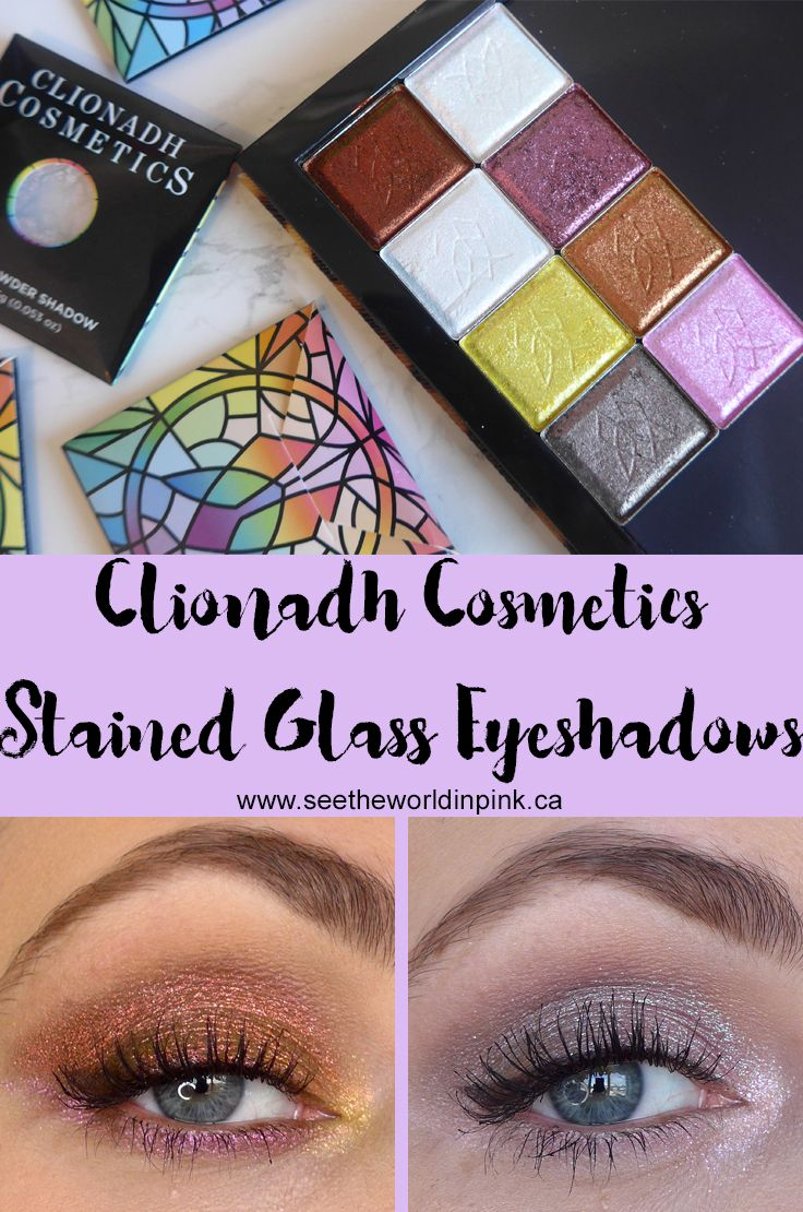 Clionadh Cosmetics Stained Glass Collection Eyeshadows