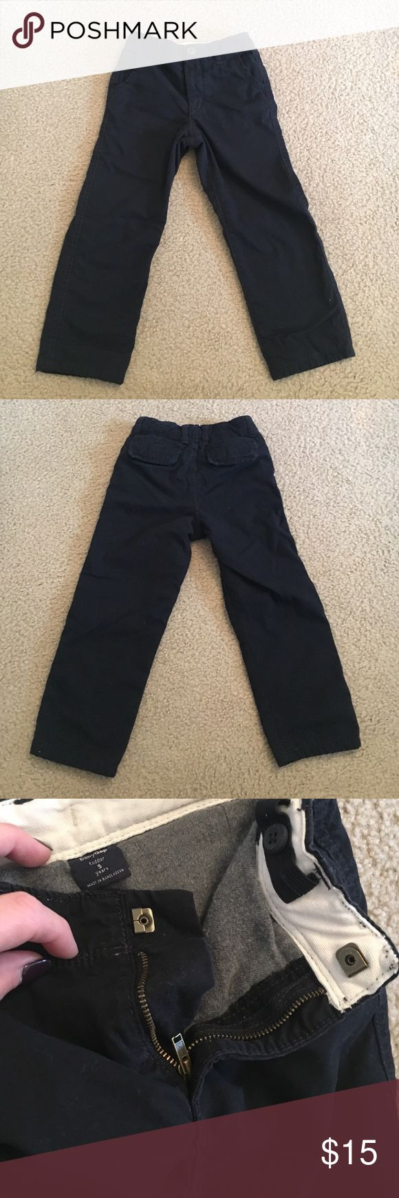 Toddler fleece Khakis Boys blue fleece Khakis perfect for chilly weather. In great condition. GAP Bottoms