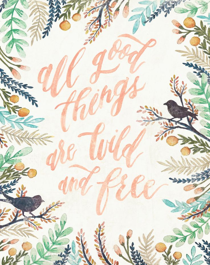 All good things are wild and free!