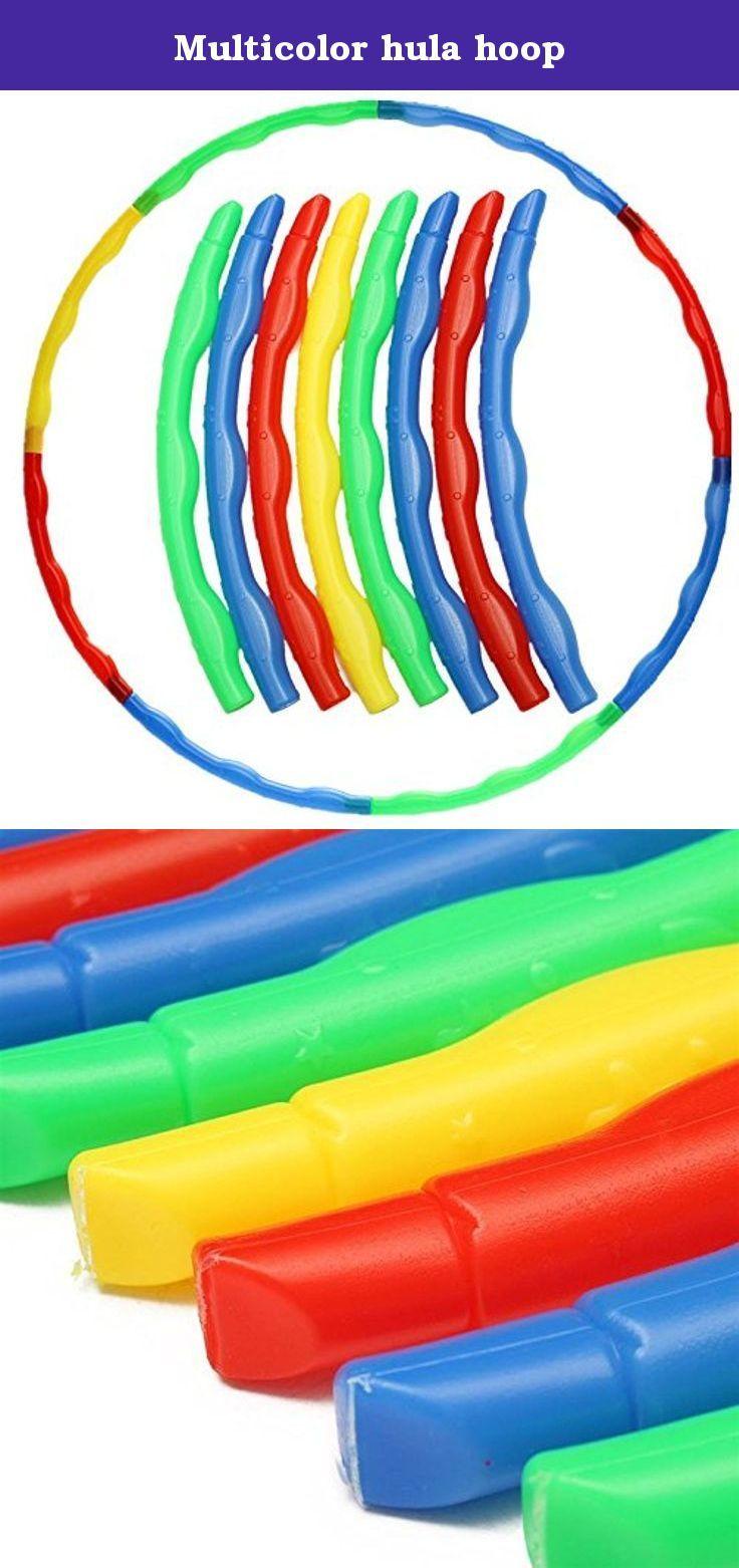 Multicolor hula hoop. External Diameter: App 66 cm Inner Diameter: App 63.5 cm.