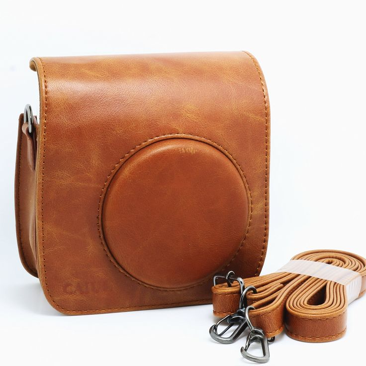 Amazon.com : CAIUL PU Leather Fujifilm Fuji Mini 25 Film‎ Fuji Instax Mini 25 Case---Brown