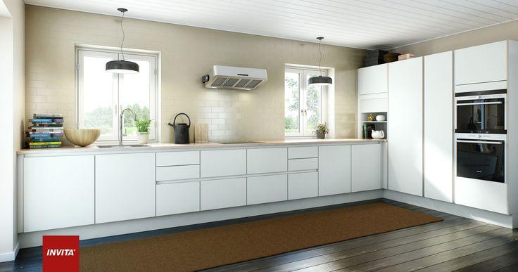Køkkenet i et af husene i vores udstillingsby i Ringsted ...