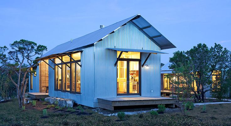 Have a weakness for metal houses --  Lake Flato Porch House