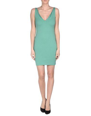DSQUARED2 woman green stretch-cotton mini dress - LuxuryProductsOnline