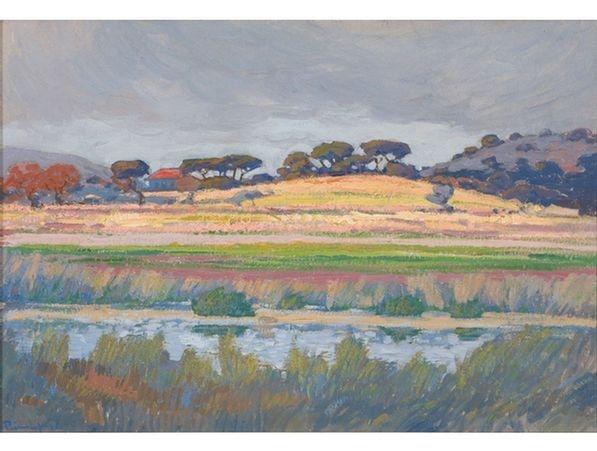 Jacob Hendrik Pierneef; An Extensive River Landscape
