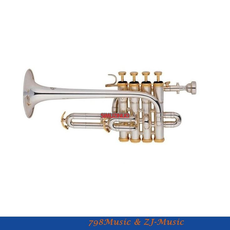 (664.05$)  Buy here - http://aiywo.worlditems.win/all/product.php?id=32559270342 - New Silver Plated Piccolo Trumpet 4 Piston Bb/A Key With Case