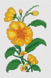 Yellow Flower, free cross stitch pattern from Alita Designs