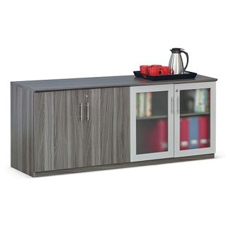 Glass Door Contemporary Storage Cabinet - 72W - 36554 and more Lifetime Guarantee
