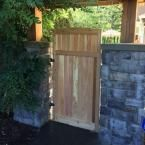 Signature Development 3 ft. x 6 ft. Western Red Cedar Arch Top Vertical Lattice Fence Gate 36x70x1.5AVGAT at The Home Depot - Mobile
