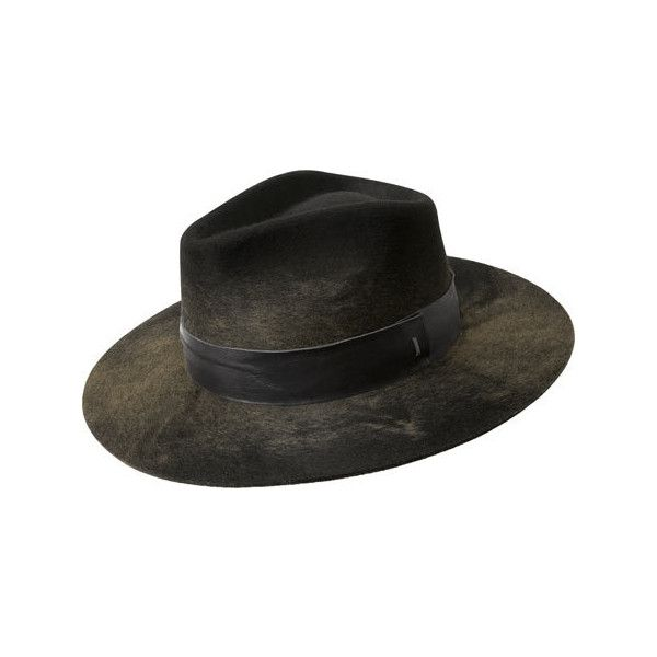 Men's Bailey of Hollywood Hillman Fedora 38341BH - Black/Camel ($160) ❤ liked on Polyvore featuring men's fashion, men's accessories, men's hats, mens hats fedora, mens wide brim fedora hats, mens flat hats and mens hats