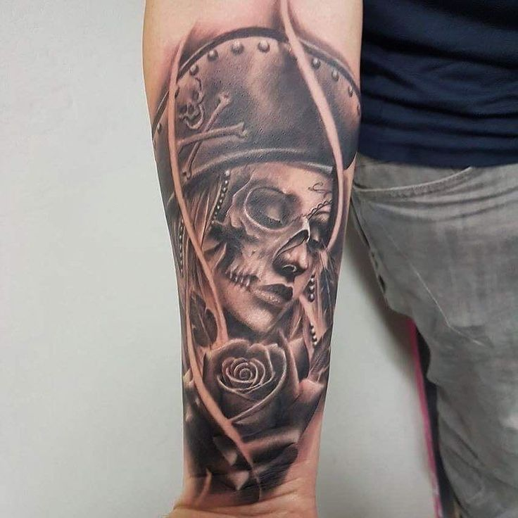 Dead pirate lady face by bencartertattoos at divine art
