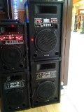 BOXE KARAOKE AMPLIFICAT 8 inch CU MP3/SLOT USB/CARTELE+MICROFON