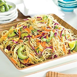Thai Noodle Salad - I used extra cilantro and substituted lite soy sauce for fish sauce. I didn't have cabbage so I substituted finely chopped baby spinach. It was delicious and a quick dish to make. We will be making this again!