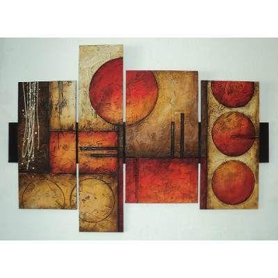 Cuadros abstractos con texturas y alto relieve s 350 for Cuadros modernos plateados