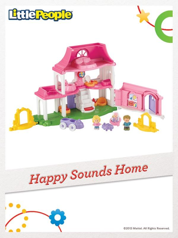 The Little People Happy Sounds Home is filled with all the sounds of a busy, happy home. For a chance to win, click here: http://fpfami.ly/014ez #FisherPrice #Toys