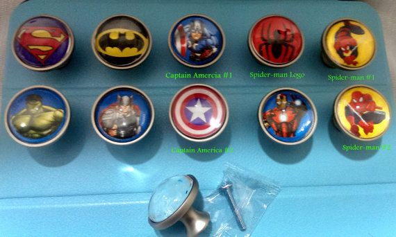 Super Hero drawer pulls and knobs  Spider by SilverStateDesigns