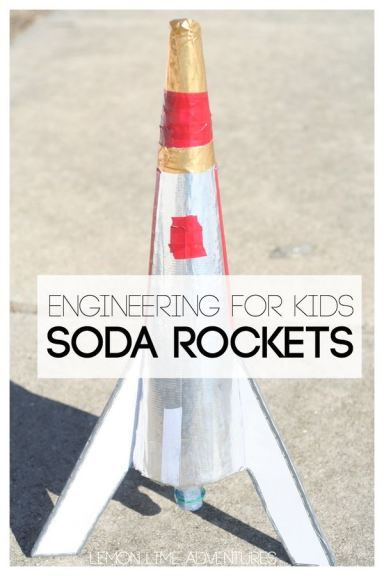 Engineering for Kids Baking Soda Rockets - easy diy science activity for educating developing minds