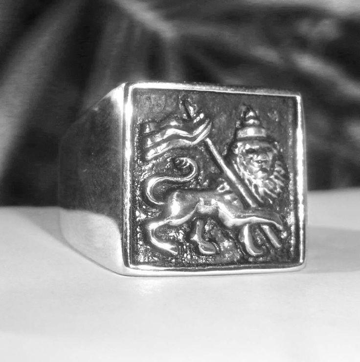 Rastafari Lion Of Judah Ring