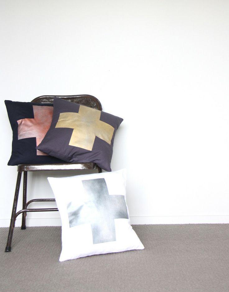 Metallic Cushions  www.cloudninecreative.co.nz