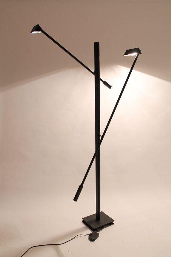 7 Feet Tall 1970s Floor Lamp Kinetic 2 Arms Italian