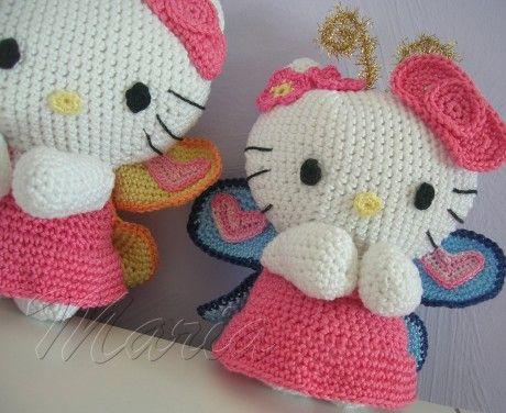 Patron para tejer Hello Kitty en crochet 1