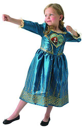 From 13.65 Loveheart Merida Girls Fancy Dress Disney Brave Fairytale Kids Childs Costume