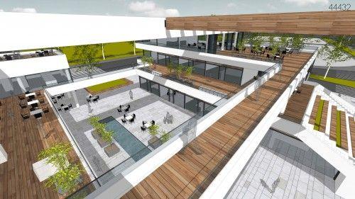 1. Ödül - Antalya Gazipaşa Belediye Hizmet Binası, Ticaret Merkezi ve Yakın Çevresi Ulusal Mimari Proje Yarışması - kolokyum.com