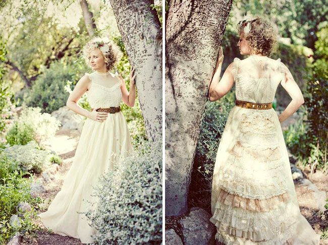 Romantic Woodsy Wedding Fashion